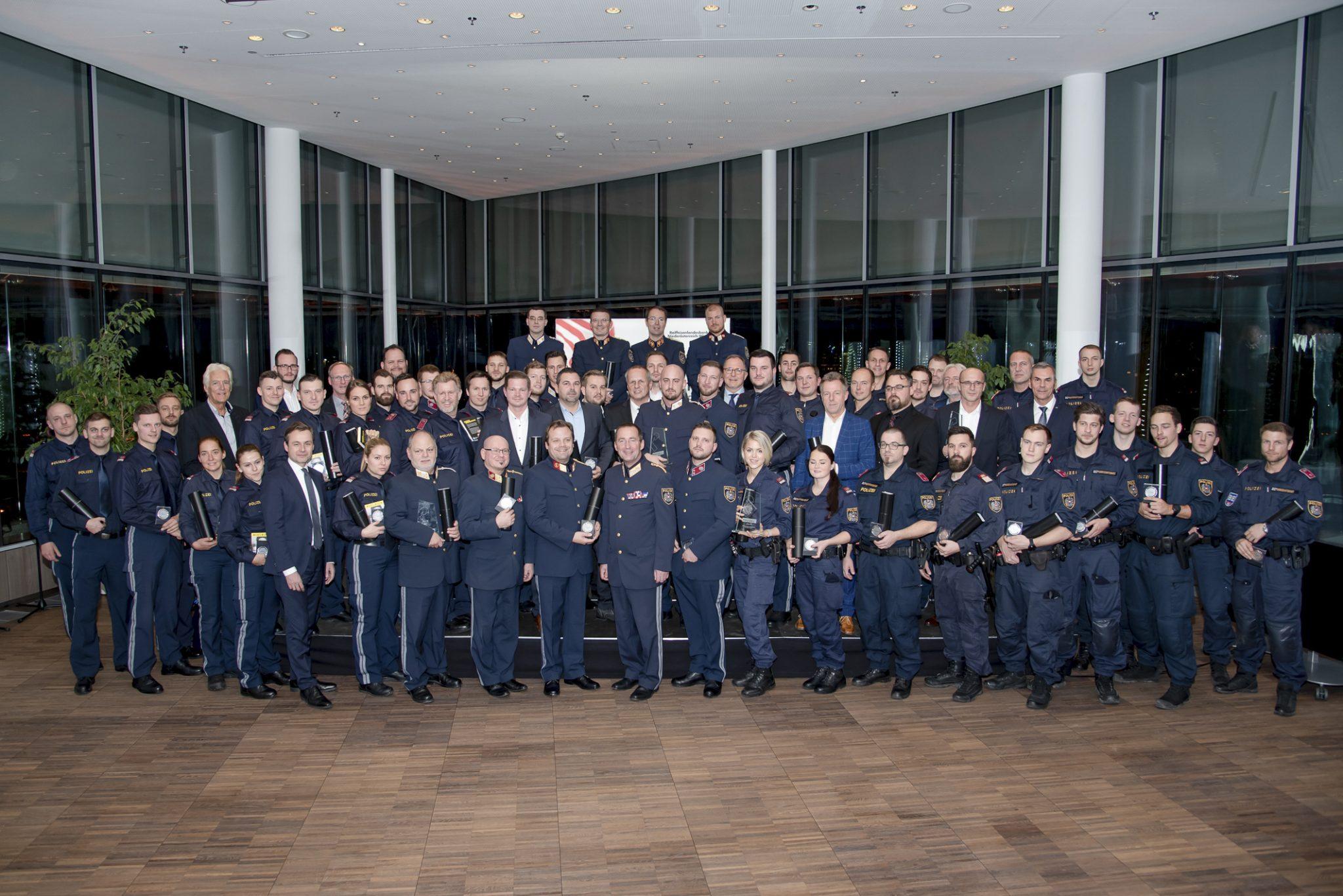 Sicherheitsverdienstpreise 2019 für Wiener Polizei